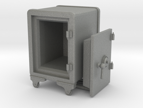 Vintage Safe 01. 1:24 Scale in Gray PA12
