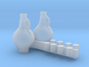 HO Scale Cups and Pitchers in Smooth Fine Detail Plastic