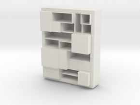 Modern Miniature 1:48 Rack/Hallway in White Natural Versatile Plastic: 1:48 - O