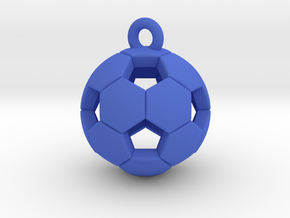 Soccer Ball Pendant in Blue Strong & Flexible Polished