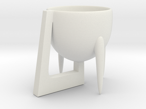 Cup 02 (medium) in White Natural Versatile Plastic