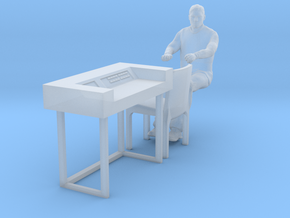 SPACE 2999 EAGLE MPC 1/48 DESK W CHAIR AND ALPHAN in Smooth Fine Detail Plastic