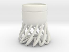 Cup 01 (medium) in White Natural Versatile Plastic