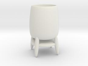 Cup 03 (medium) in White Natural Versatile Plastic