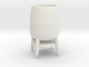 Cup 03 (medium) in White Natural Versatile Plastic