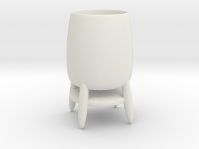 Cup 03 (small) in White Natural Versatile Plastic