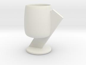 Cup 04 (medium) in White Natural Versatile Plastic