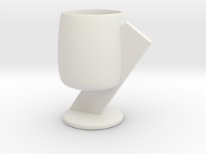 Cup 04 (medium) in White Natural Versatile Plastic