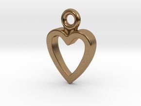 Heart Charm / Pendant / Trinket in Natural Brass