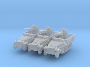 Sdkfz 251 D Pritschen 105mm (x3) 1/200 in Smooth Fine Detail Plastic
