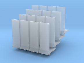 Retaining Concrete Wall (x16) 1/285 in Smooth Fine Detail Plastic