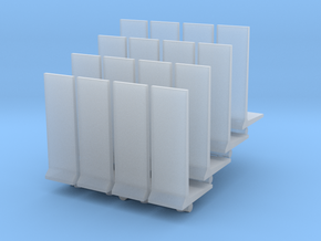 Retaining Concrete Wall (x16) 1/400 in Smooth Fine Detail Plastic