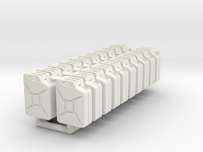 Jerry Can 01.1:35 Scale in White Natural Versatile Plastic