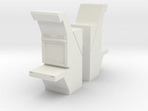 Air Traffic Control Console (x2) 1/76 in White Natural Versatile Plastic