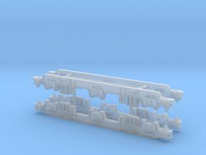 British Rail EM2 Bogies TT 1:101.5 in Smooth Fine Detail Plastic