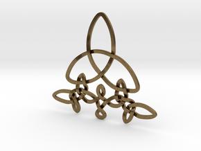 Medallion trefoil in Natural Bronze