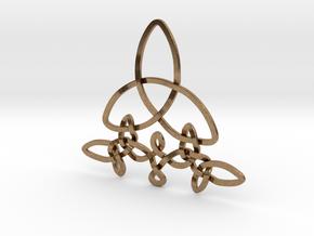 Medallion trefoil in Natural Brass