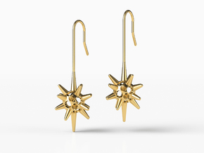XANTHIUM EARRINGS in Natural Brass