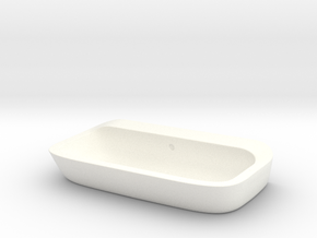 Bath sink counter-top 1:12, 1:24 in White Processed Versatile Plastic: 1:12