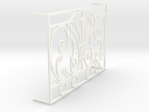 1:12 Balustrade / railing, for French door in White Processed Versatile Plastic