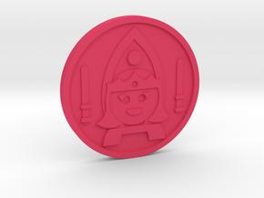 Queen of Wands Coin in Pink Processed Versatile Plastic