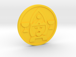 King of Cups Coin in Yellow Processed Versatile Plastic