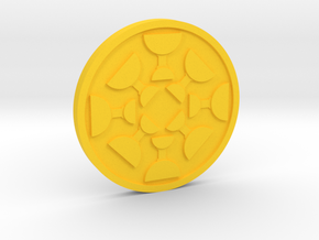 Eight of Cups Coin in Yellow Processed Versatile Plastic