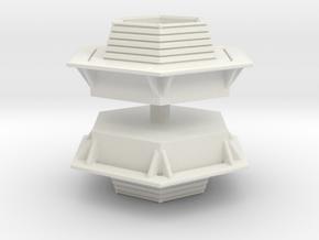 Hexagonal Bench (x2) 1/100 in White Natural Versatile Plastic