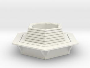 Hexagonal Bench 1/87 in White Natural Versatile Plastic