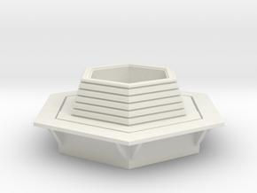 Hexagonal Bench 1/64 in White Natural Versatile Plastic