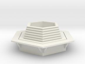 Hexagonal Bench 1/48 in White Natural Versatile Plastic