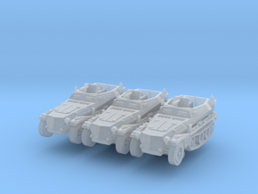 Sdkfz 250/5 A (x3) 1/200 in Smooth Fine Detail Plastic