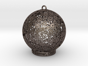 Creator Ornament in Polished Bronzed-Silver Steel