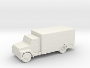 HO Scale Ice Truck in White Natural Versatile Plastic