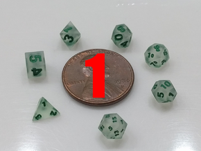 1x Super Tiny Polyhedral Dice Set, V3 in Smoothest Fine Detail Plastic