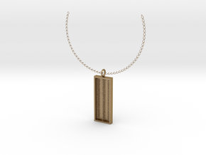 Triple Chain Pendant in Polished Gold Steel