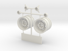 CSS003-1.6 in 7 mm Ofs Rr Wh Set in White Natural Versatile Plastic