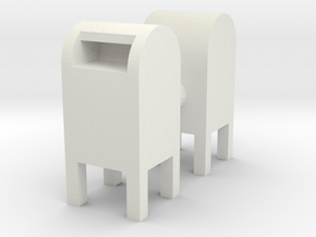 USPS Mailbox (x2) 1/64 in White Natural Versatile Plastic