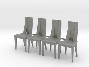 Chair 12. 1:24 Scale in Gray PA12