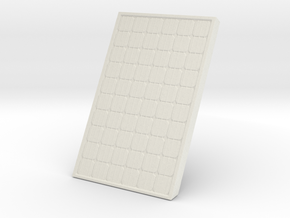 Supported Solar Panel 1/48 in White Natural Versatile Plastic