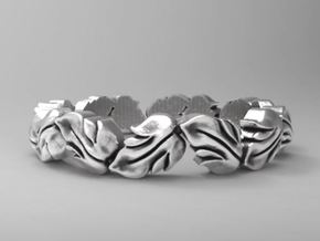 Beautiful leaf band size 6.5 in Natural Silver