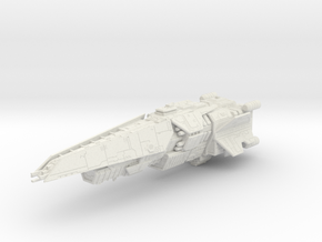 HALO. UNSC Halberd Class Destroyer 1:3000 in White Natural Versatile Plastic