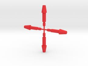 Hand Bazooka Missiles in Red Processed Versatile Plastic