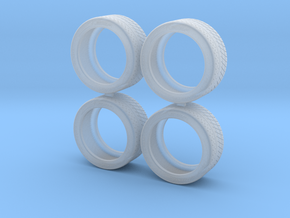"""1/24 - 17"""" Michelin PS Cup Semi Slick, model tyres in Smoothest Fine Detail Plastic"""