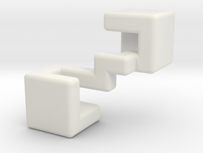 Piece #2 for Sonneveld's 4-Piece Cube in White Natural Versatile Plastic