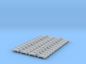 Hospital Bed 01. N Scale (1:160) in Smoothest Fine Detail Plastic