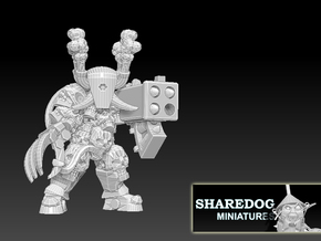 Character Series: Destroyer Bazooka in White Natural Versatile Plastic