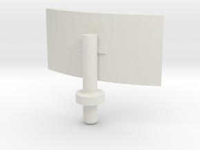 Grandus Flat Radar in White Natural Versatile Plastic