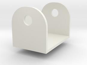 Grandus Cannon Clevis w peg in White Natural Versatile Plastic