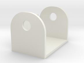 Grandus Cannon Clevis in White Natural Versatile Plastic
